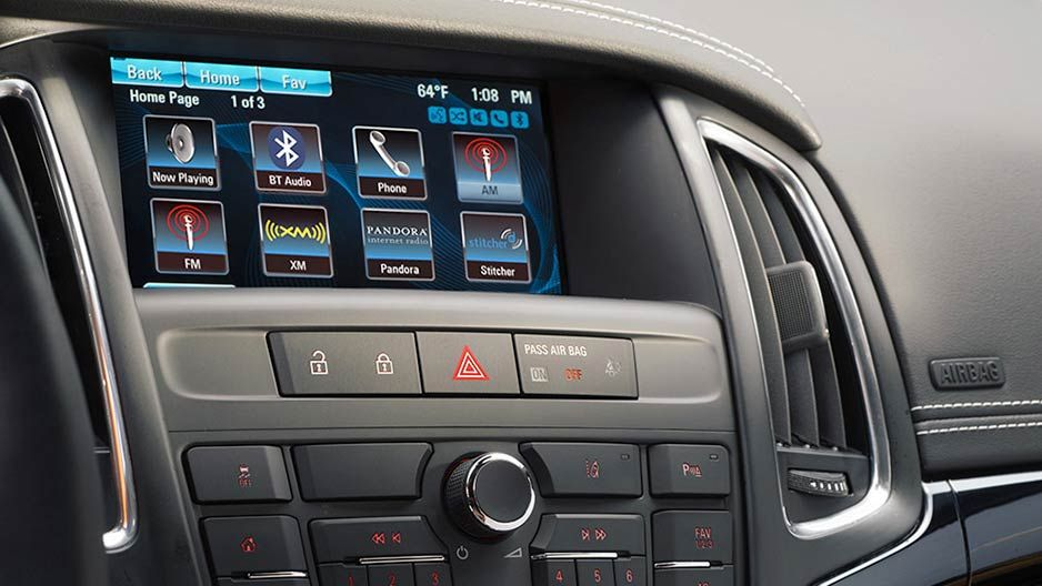 Image Showing The Buick Intellilink Infotainment System Featured