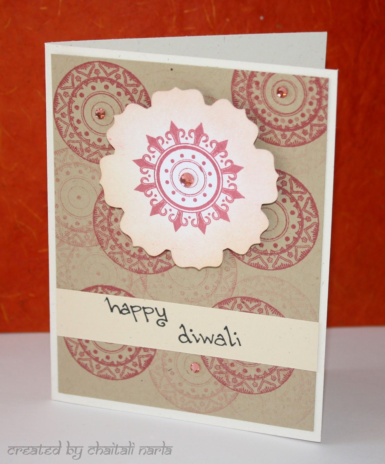 Diwali Card With Medallion My Papercrafts Pinterest Diwali