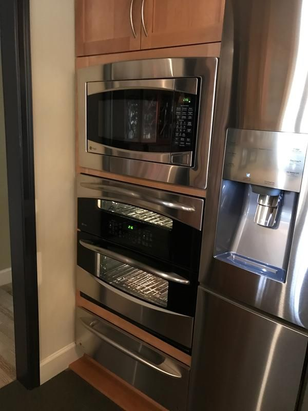 Ge Profile Microwave Single Wall Double Oven And Warming Drawer