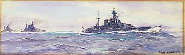 HMS Hood (51) and the 1st Battle Cruiser Squadron, 1927.
