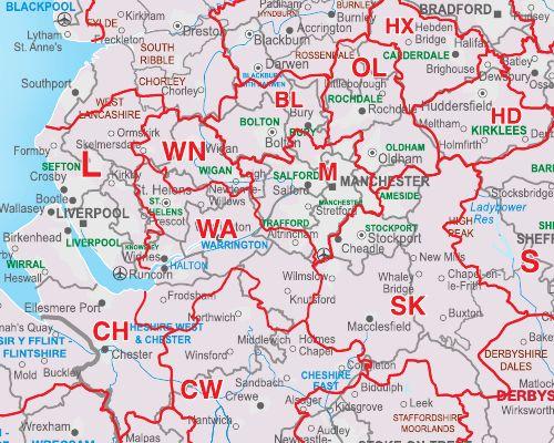 British Isles Postcode Map http//www.mapsinternational.co
