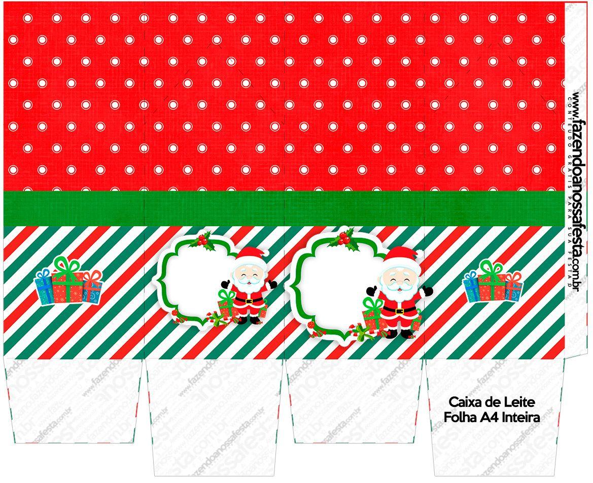 Caixa De Leite Natal Papai Noel Kit Natal Papai Noel E Noel