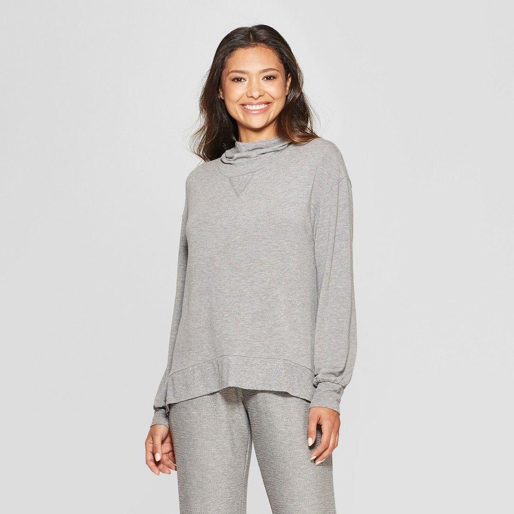 ea1b367e1 Women s Cozy Cowl Neck Sleep Sweatshirt Gray Xxl