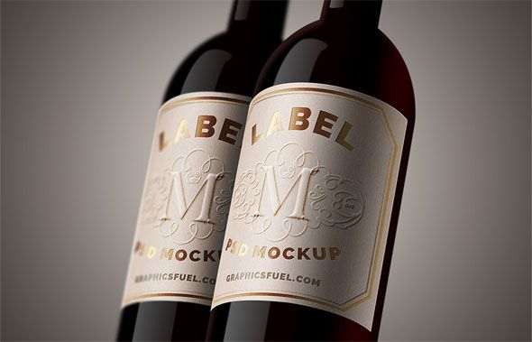 21+ Free Wine Bottle Mockups \ PSD Template Designs Mockup, Psd - free wine bottle label templates