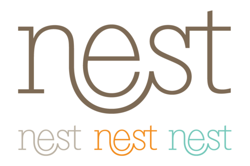 Part of the identity system for Nest Press by Ketchup N Mustard
