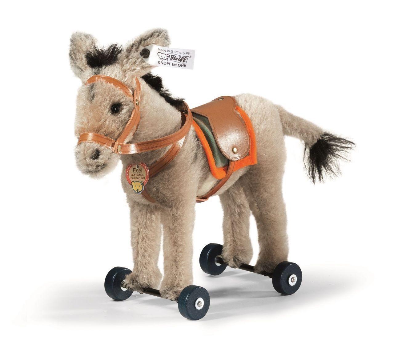 Steiff Donkey on Wheels Replica 1929 EAN 403194 Teddy