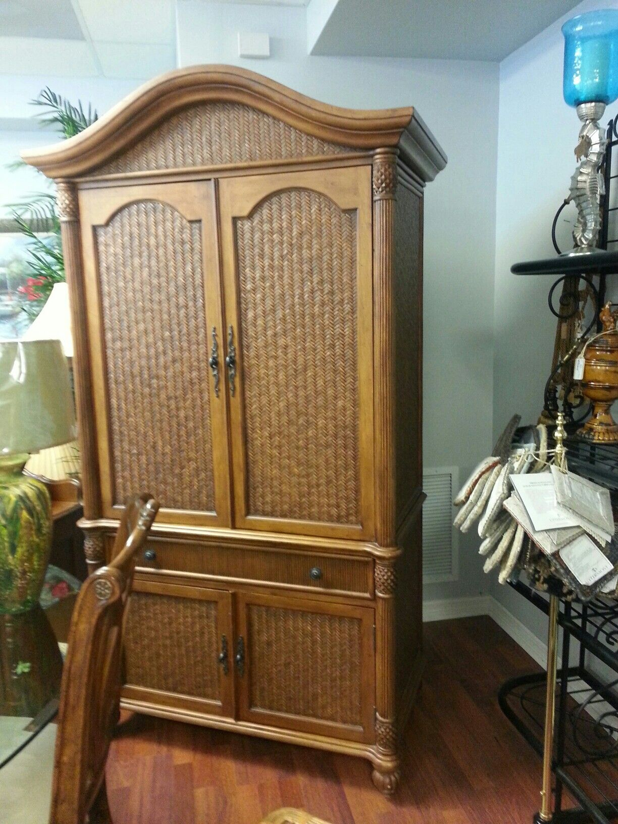 Gorgeous Rattan Armoire   Pelican Reef Makes Quality Furniture And We Have  The Armoire U0026 King