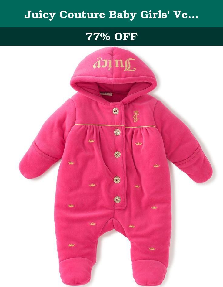 c313184b4f Juicy Couture Baby Girls' Velour Hooded Pram, Hot Pink, 3-6 Months ...