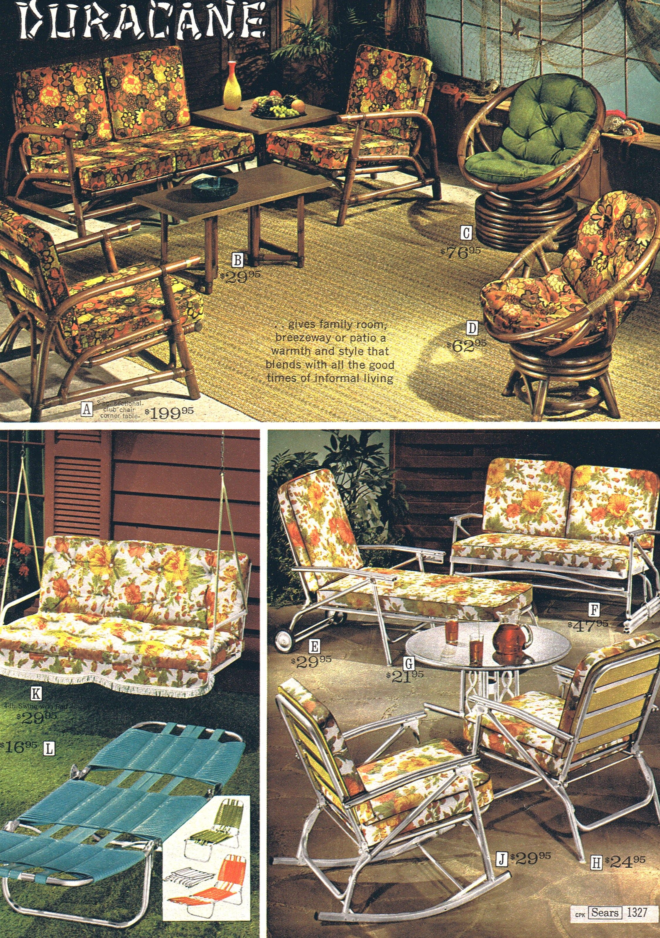 Awesome Retro Patio Furniture Sears 68 Vintage Patio