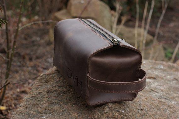77cf320dc8 Leather Personalized Dopp Kit