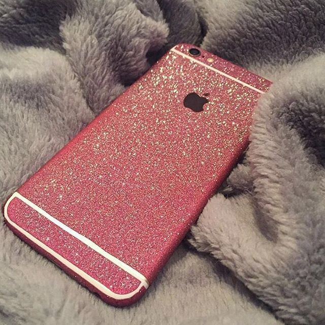 ✨Glitter IPhone Decal✨  1️⃣ Easy application & NO residue upon removal  2️⃣ Available now for IPhone  3️⃣ For extra protection we recommend pairing this with our tempered glass screen protector  ✨www.VIOLETSATIN.com✨