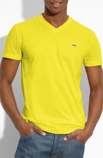 932ad0d1 Lacoste V-Neck T-Shirt- Yellow   Nordstrom   Eye for Style   Lacoste ...