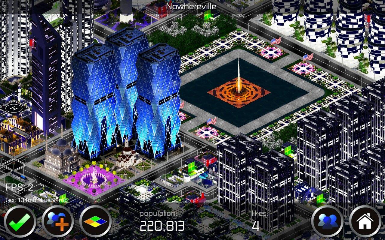 Designer City - Nowhereville city - Stunning night time