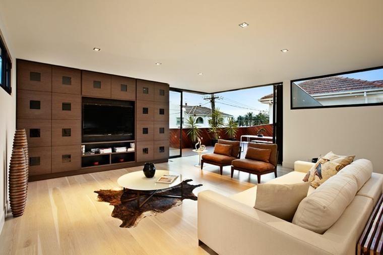 Salons mit Charme und modernem Design Minimalist architecture