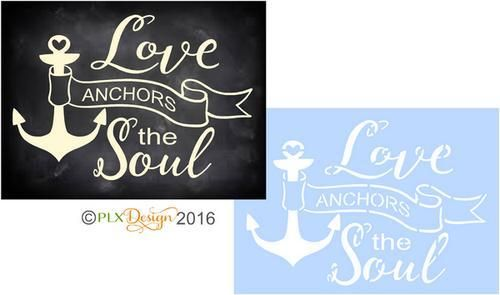 Download LOVE ANCHORS THE SOUL Nautical Wedding Stencil | Wedding ...