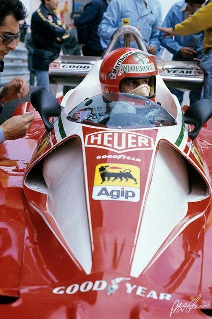 Always respected Lauda for his sheer determination of fighting. 1976 Spain Ferrari 312T2