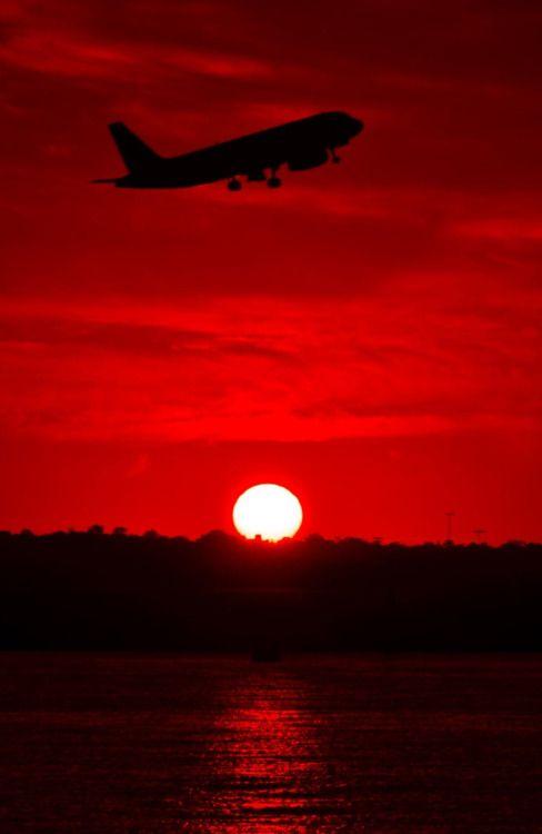 """ Sunset @ Sydney Airport """