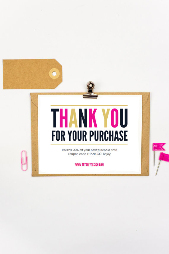 Thank You For Your Purchase Printable Instant Download Freshly