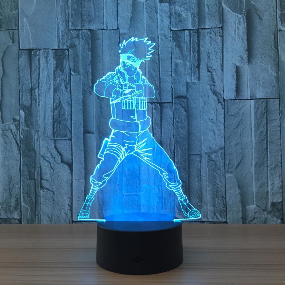 Naruto Kakashi 3d Illusion Led Lamp 3d Led Night Light Led Night Light Light Table