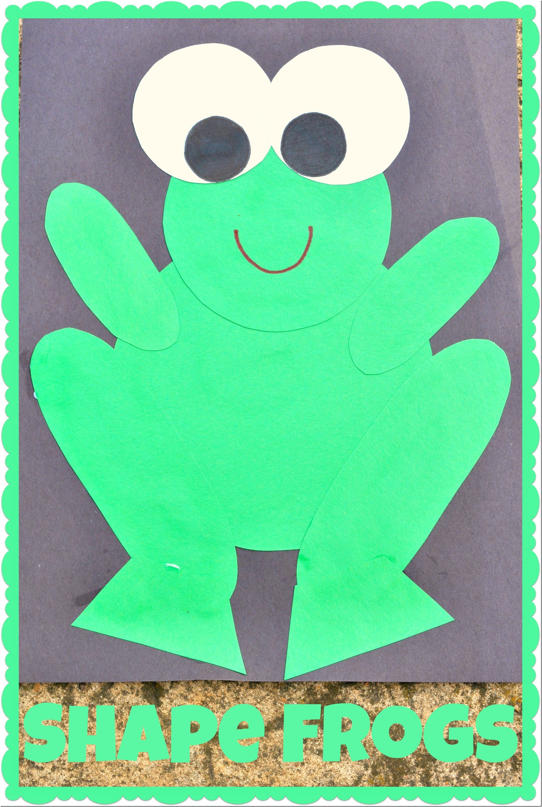 Shape frogs frog crafts and frogs for Frog crafts for preschoolers