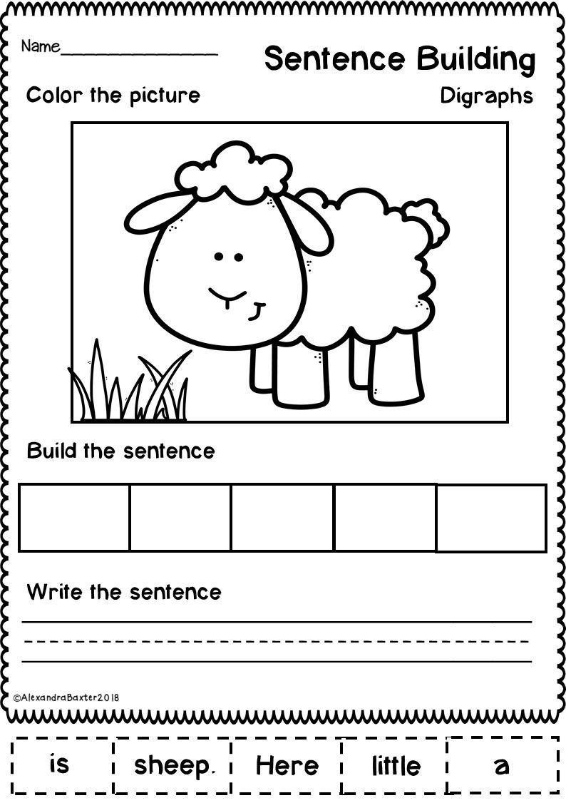 This Resource Is A Selection Of 20 No Prep Sentence Building Sentence Scramble Wo Kindergarten Writing Kindergarten Reading Activities Sentences Kindergarten [ 1126 x 794 Pixel ]