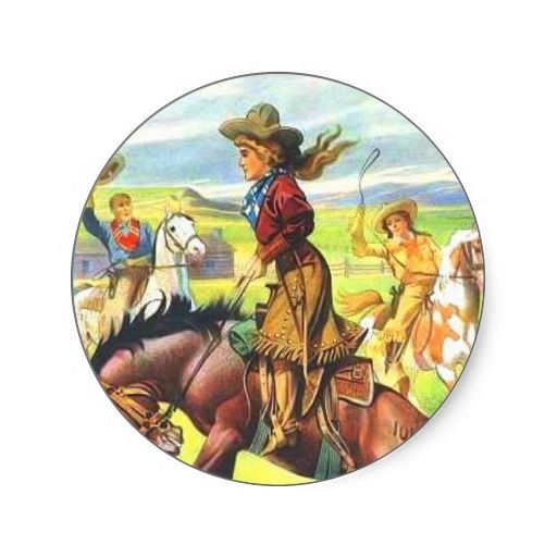 Vintage Cowgirl Stickers