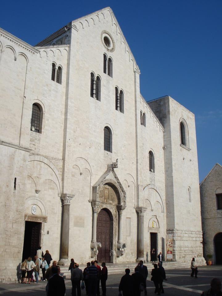 Basilica of Saint Nicholas (San Nicola) in Bari in Italy.