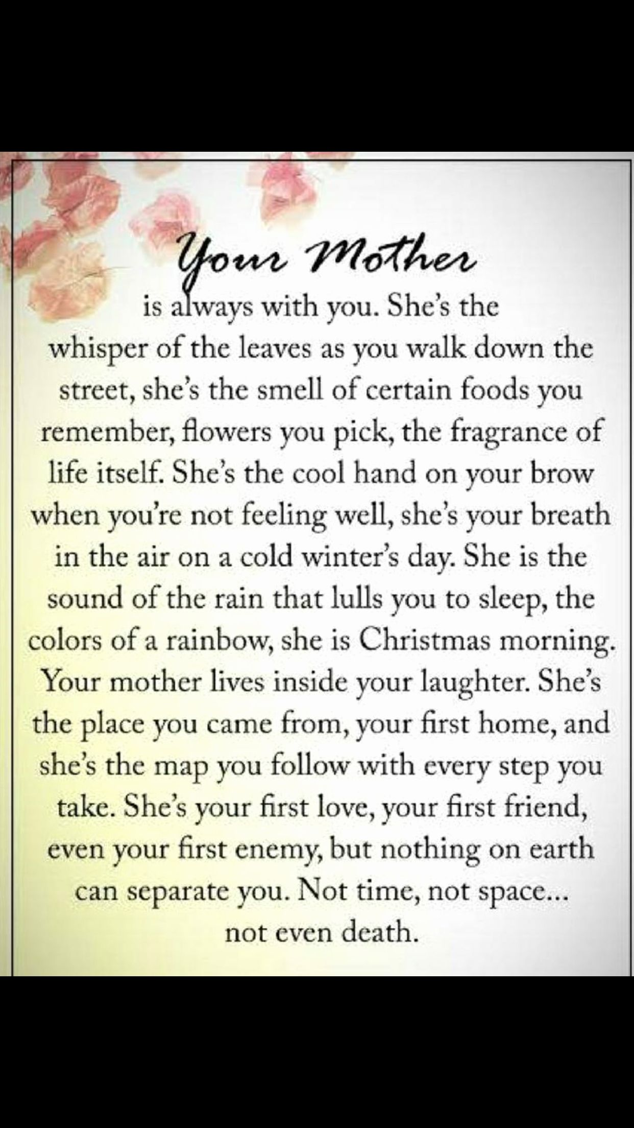 Will Miss You Elegant Absolutely Perfect Description Of My Mother She Was And Always Will Mom Quotes From Daughter Mom Poems Mother Quotes