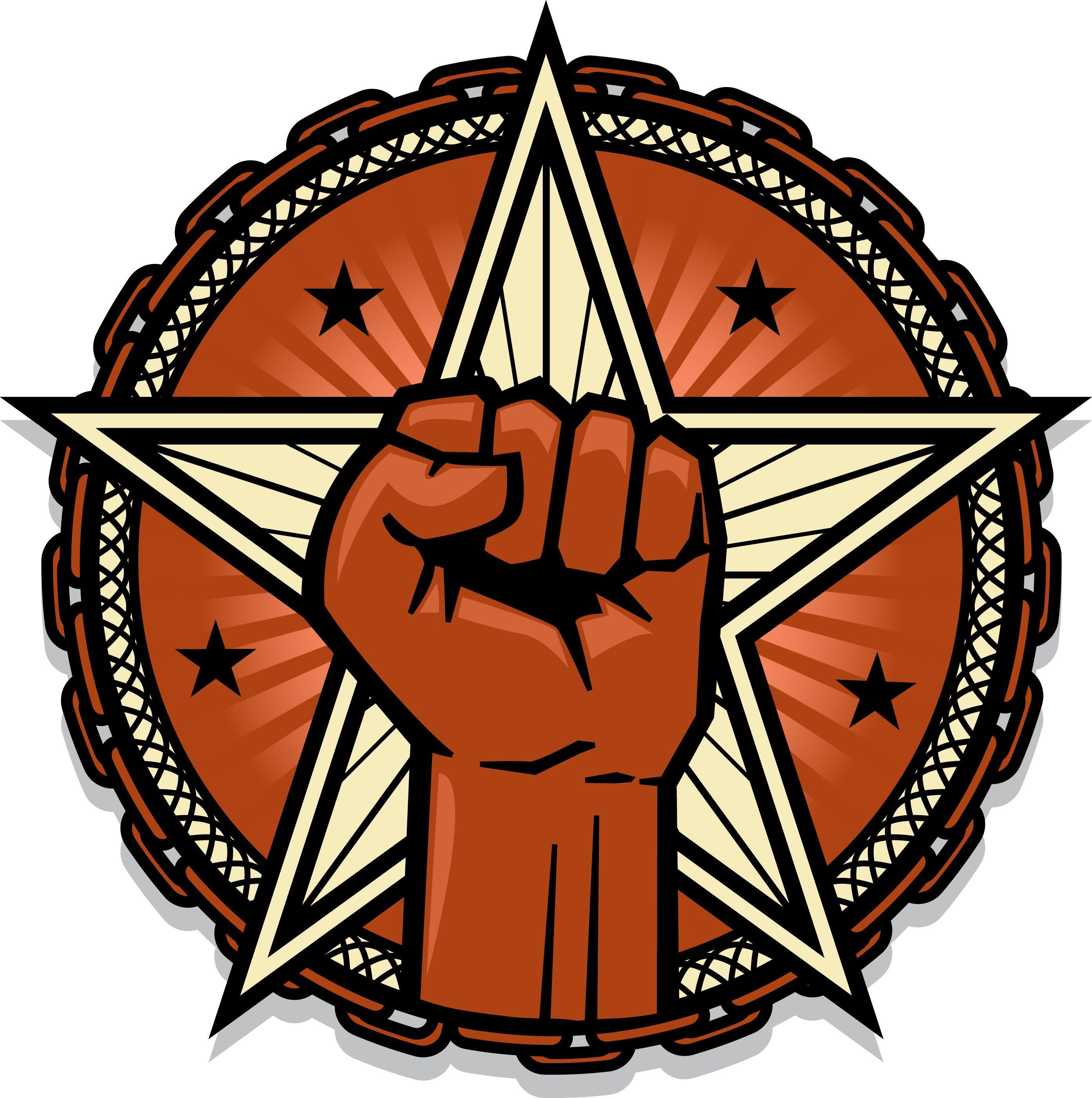 Free fist emblem logo Circular logo, Free logo, Logos
