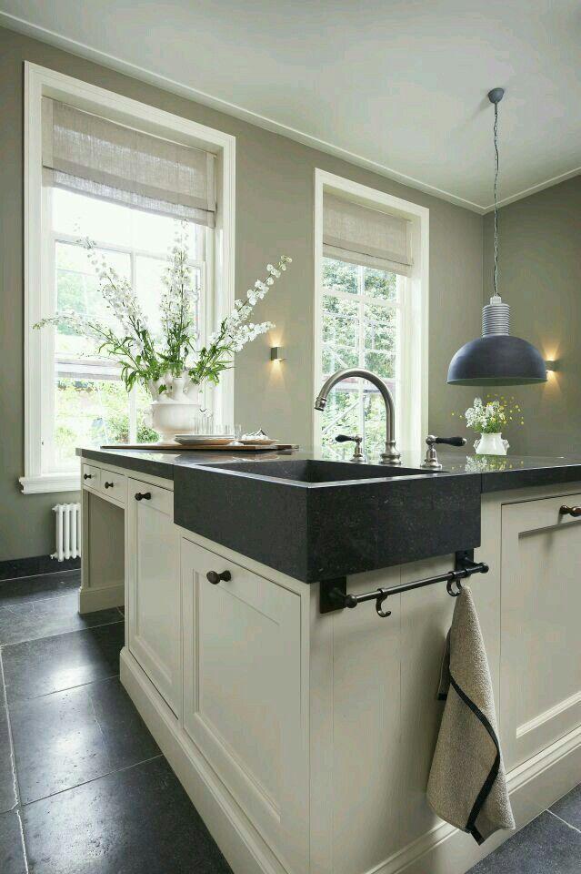 Kleur muur en vouwgordijnen kuchnie pinterest cuisines int rieur et cuisines maison - Verriere keuken ...