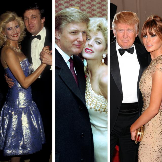 The three Mrs. Trumps: Ivana Trump (left), Marla Maples (center