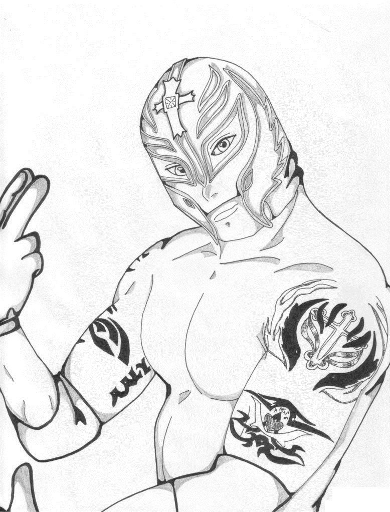 WWE Printable Coloring Pages | Free Printable WWE Coloring Pages ...