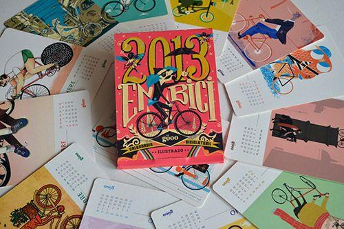 Calendario bicicleteril ilustrado Göoo 2013  LO TENGO!!!! me lo regalaron!!! ♥