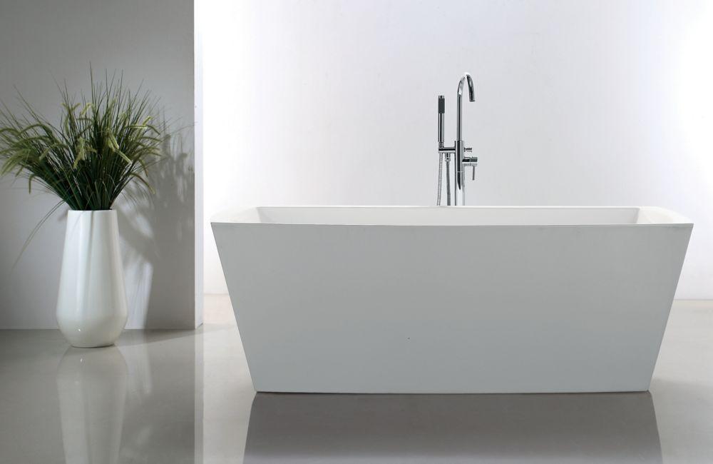Andy 5 Feet 6 Inch Rectangular Freestanding Soaker Bathtub