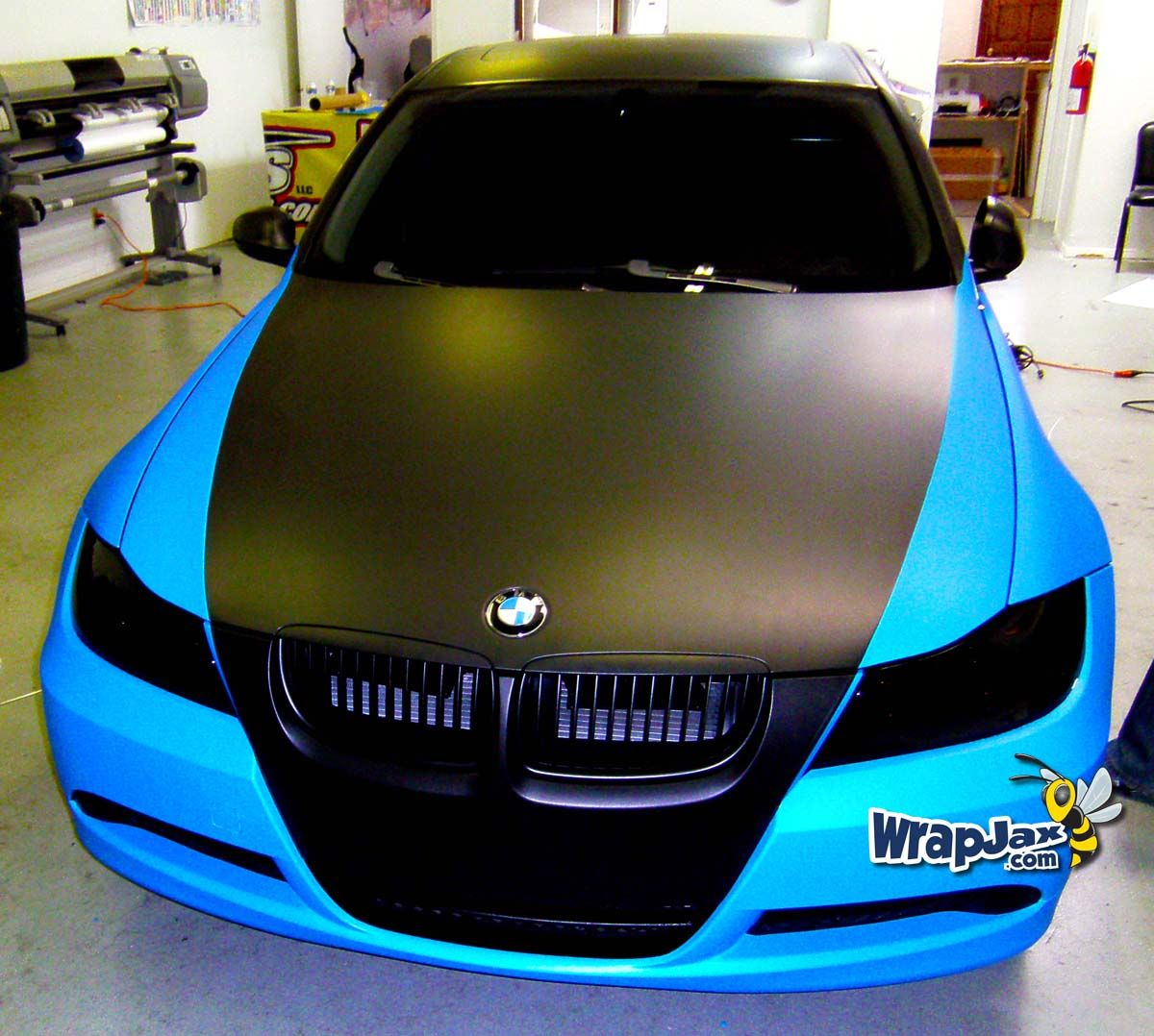 """Front shot of """"Electric Blue"""" and Matte"""