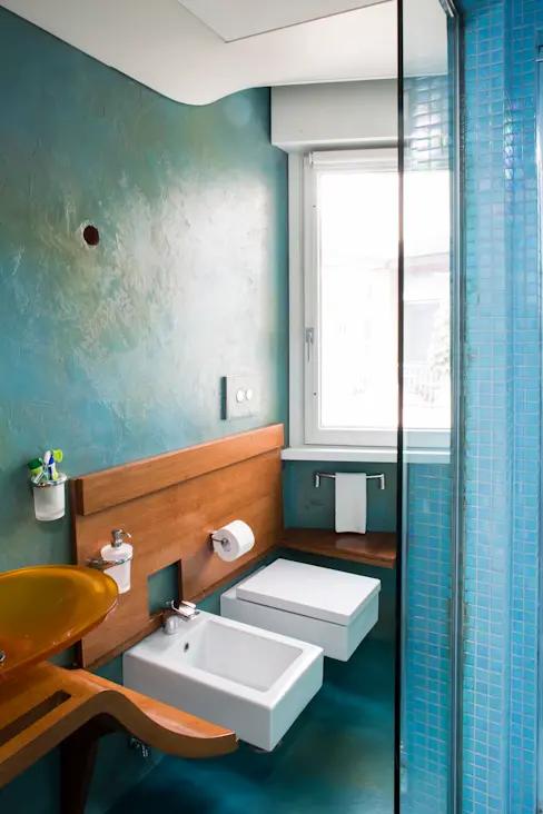 Come Abbinare Il Verde Tiffany 15 Idee Vincenti Da Copiare Homify Nel 2021 Illuminazione Appartamento Arredamento Bagno Bagno