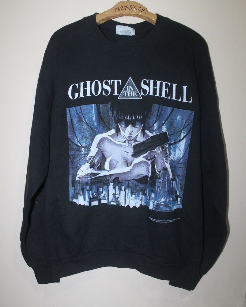 Rare Vintage 90s Ghost In The Shell Sweatshirt Masamune Shirow Anime Japan Manga Compras