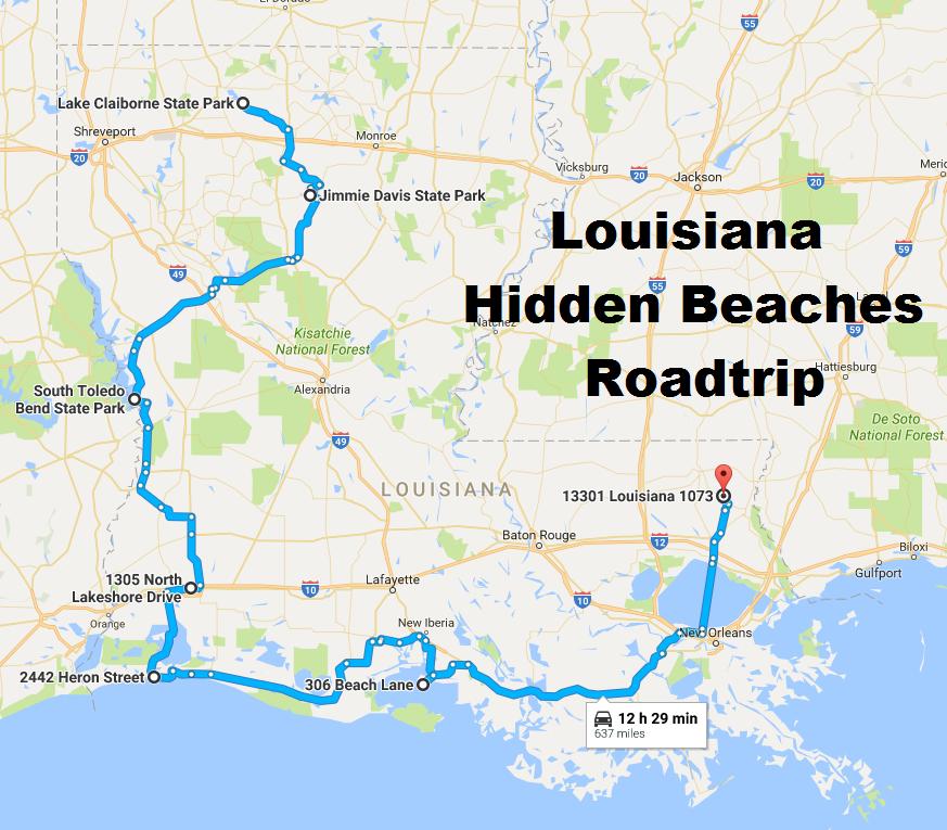 map of louisiana beaches The Hidden Beaches Road Trip That Will Show You Louisiana Like map of louisiana beaches