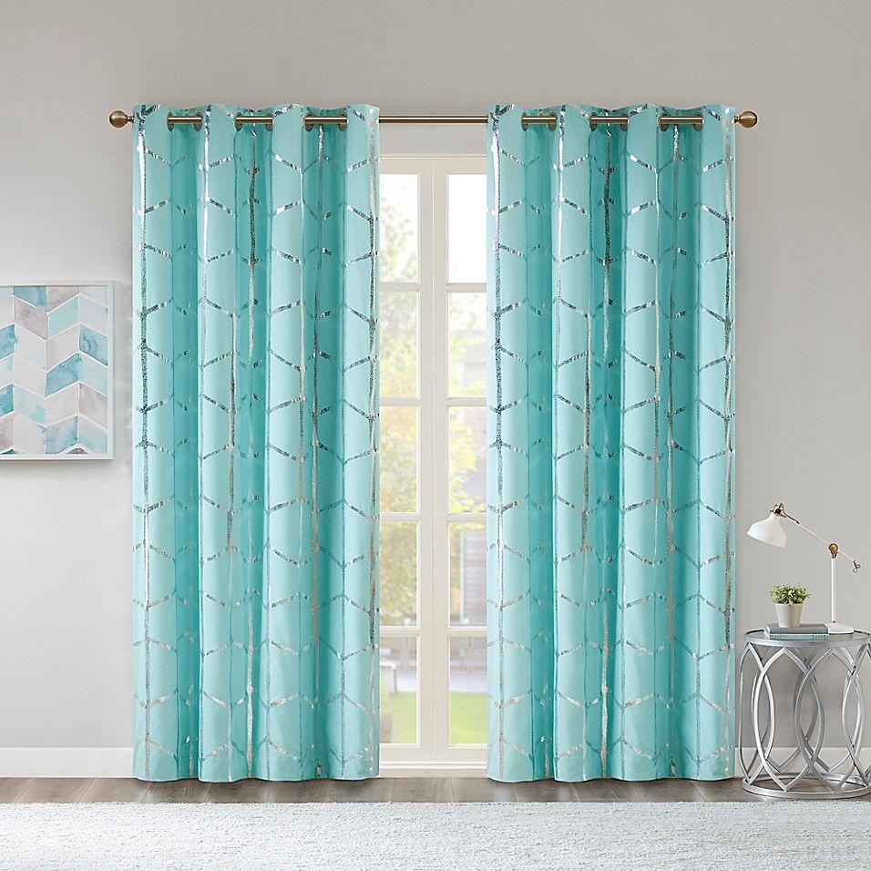 Intelligent Design Raina Grommet Window Curtain Panel Panel Curtains Turquoise Curtains Colorful Curtains