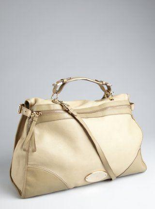 summer khaki leather 'Taylor' oversized satchel | I think I have a ...