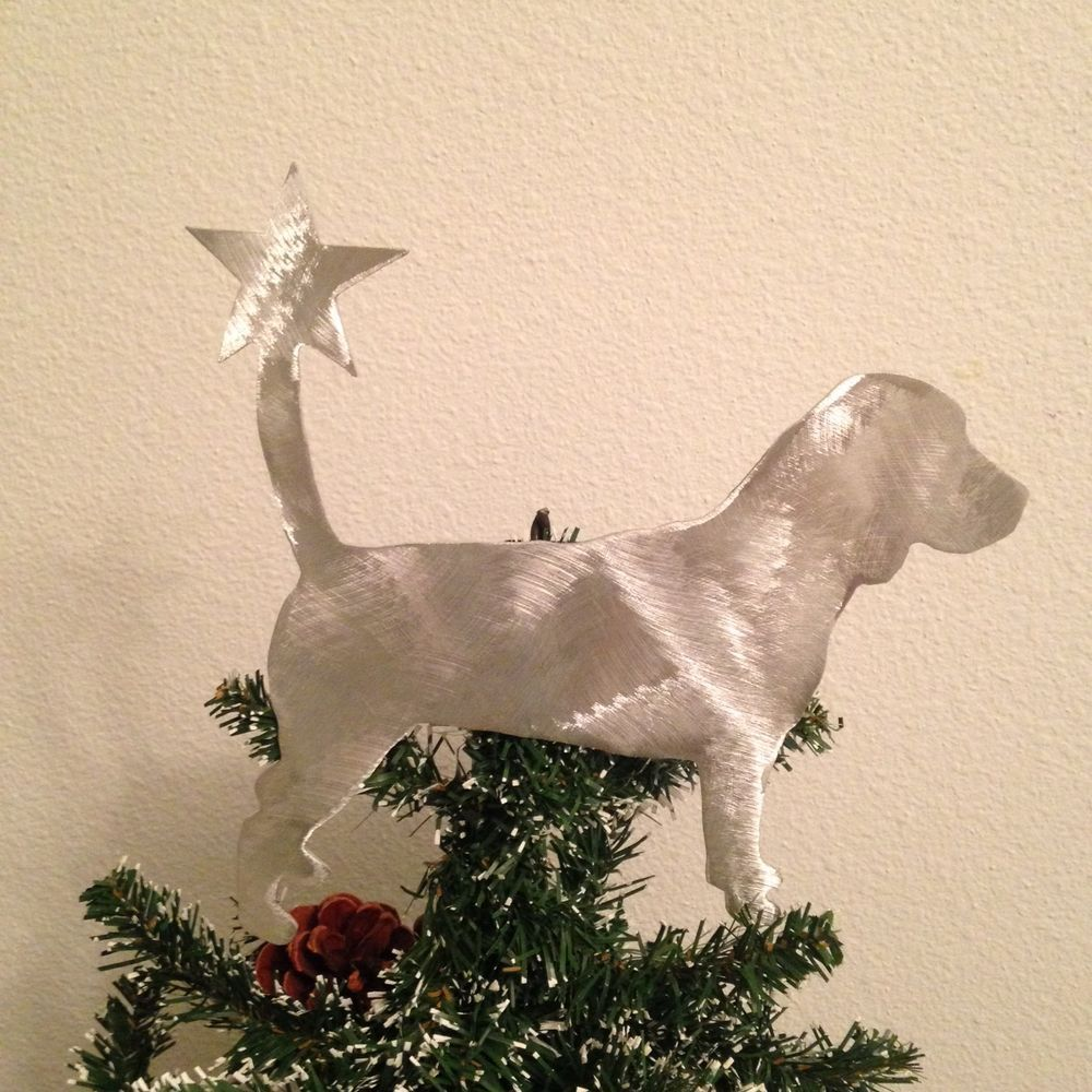 Details About Beagle With Star Tree Topper Holiday Decoration