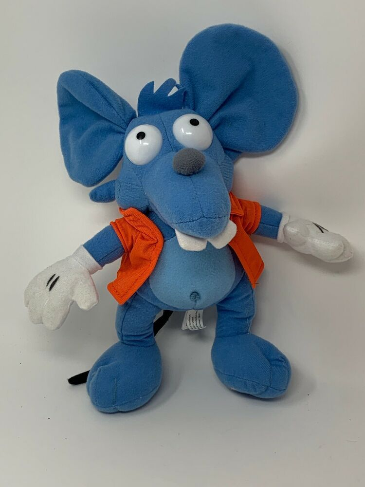 Toy Factory The Simpsons Plush Itchy Mouse Blue Rat Stuffed Animal