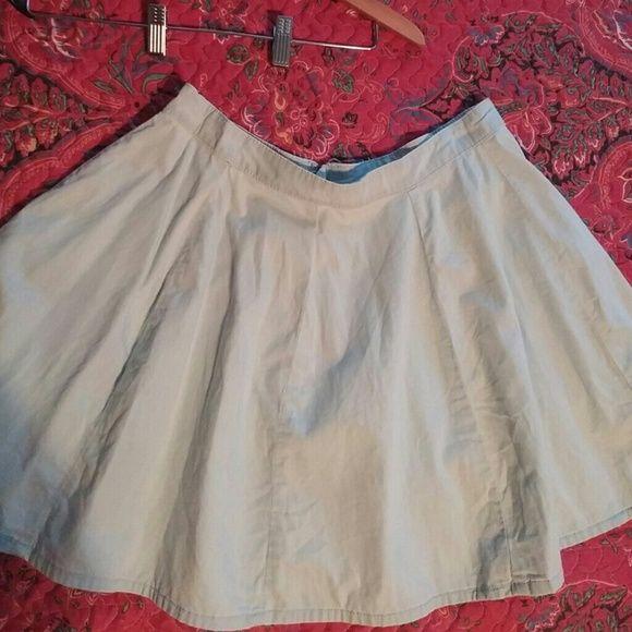 """Skater skirt Skater skirt in denim, short, 17"""" length, excellent condition. Victoria's Secret Skirts Circle & Skater"""