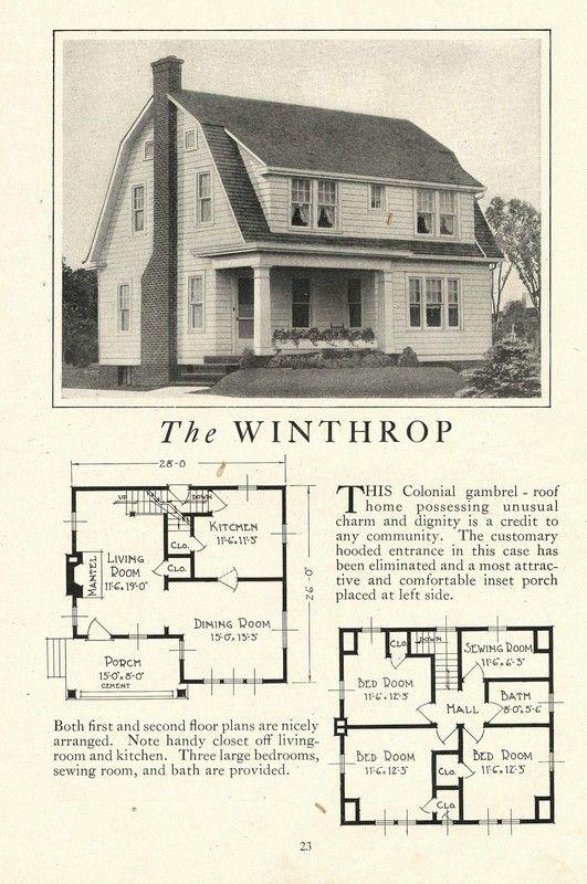 Burnt Ordinary Kit Homes Lewis Winthrop Sears Modern Homes Craftsman House Plans Kit Homes Vintage House Plans