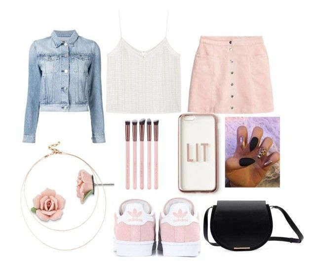 """""""Rose Gold x Black"""" by callmeevol on Polyvore featuring 3x1, MANGO, H&M, adidas Originals, Missguided, 1928 and Sole Society"""