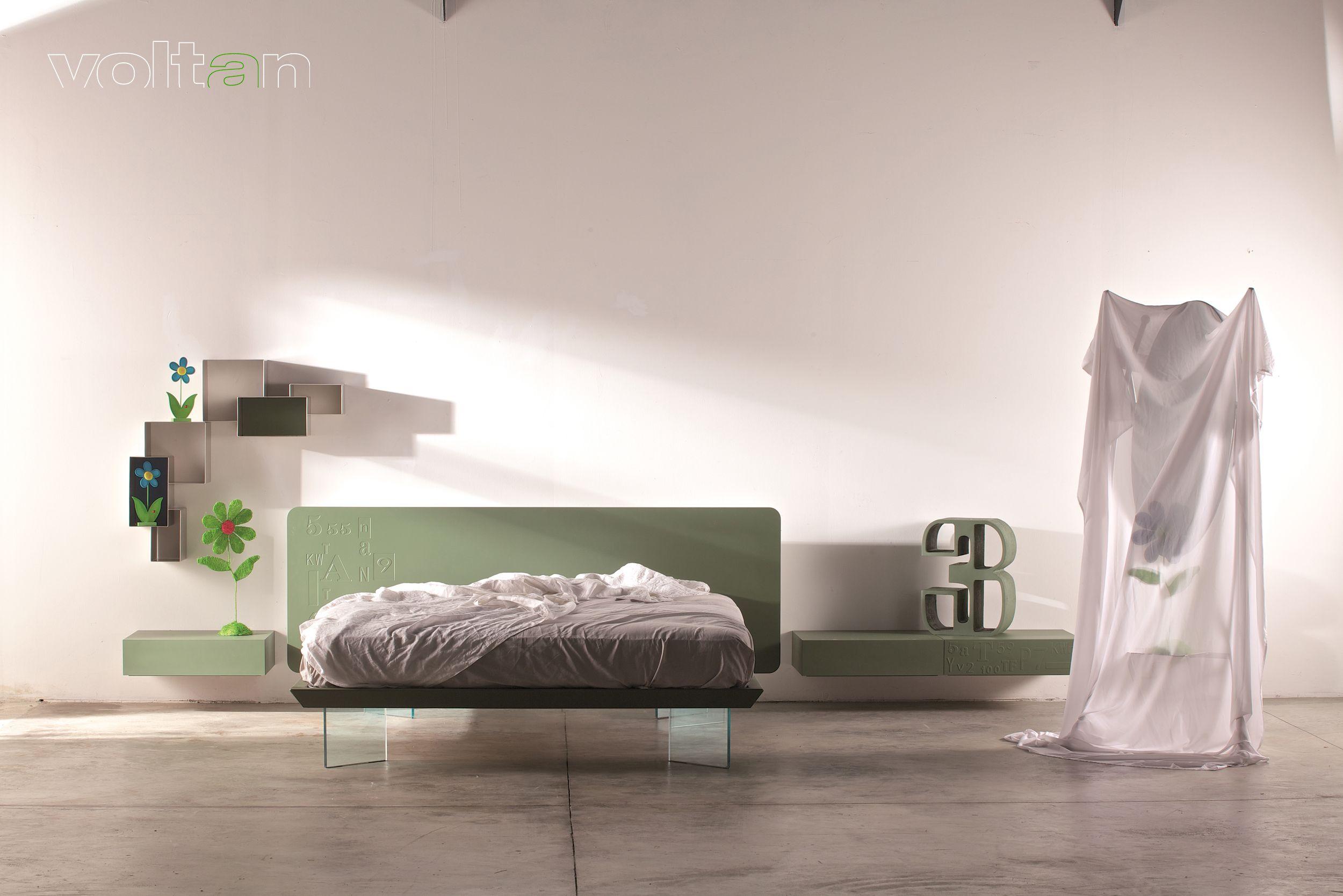 Letti Matrimoniali Con Cassetti Laterali letto link laccato opaco , bassorilievo 11 laterale, piedi