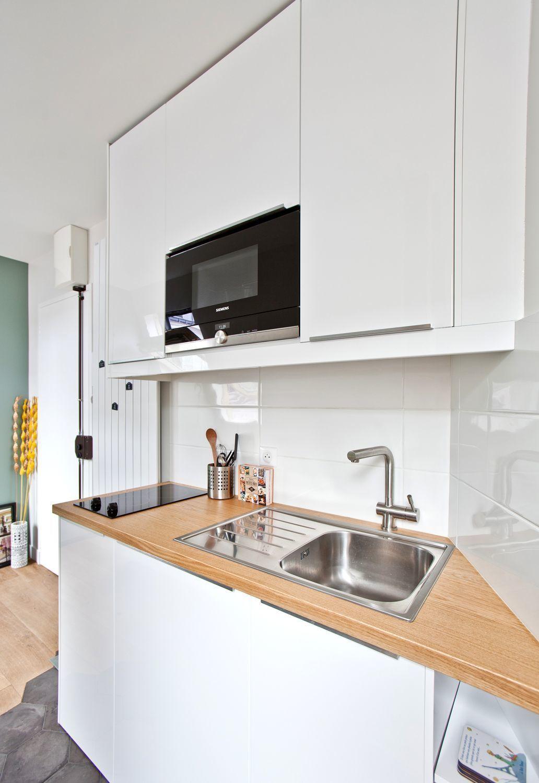 Appartement Paris 9e Studio Etudiant Hyper Optimise Cuisine De