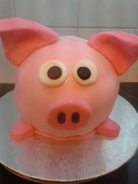 Percy Pig Cake My Own Cakes Pinterest Pigs Pig Cakes And - Owl percy pig birthday cake