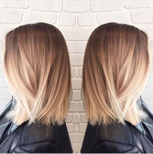 Ombré Hair Miel Carré Plongeant