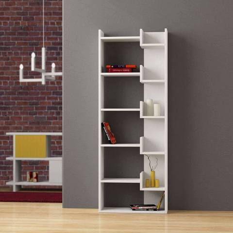 Hoppy Bookcase White Contemporary Bookshelf Modern Designer Bookcases Room Dividers 70Off Sale